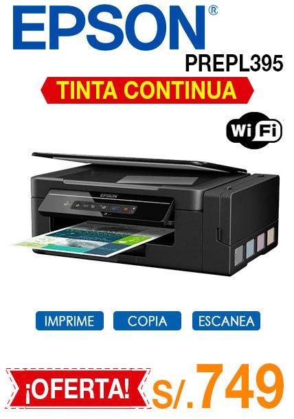 multifuncional epson l395 con wifi