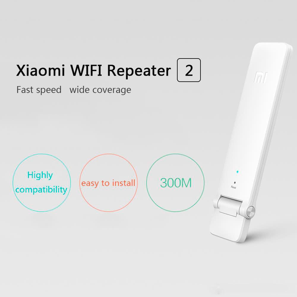 Xiaomi Mi Wifi 2 Repetidor USB Amplificador Señal 300 Mpbs